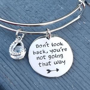 Jewelry - Don't look back you're not going that way bracelet